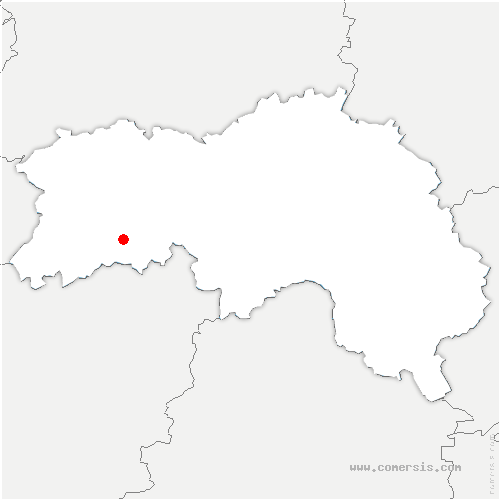 carte de localisation de Juvigny-Val-d'Andaine