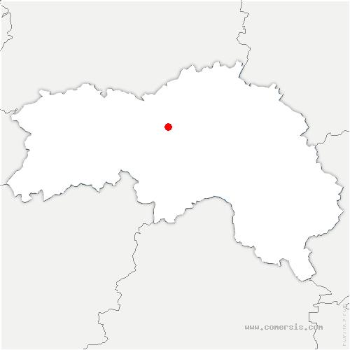 carte de localisation de Juvigny-sur-Orne