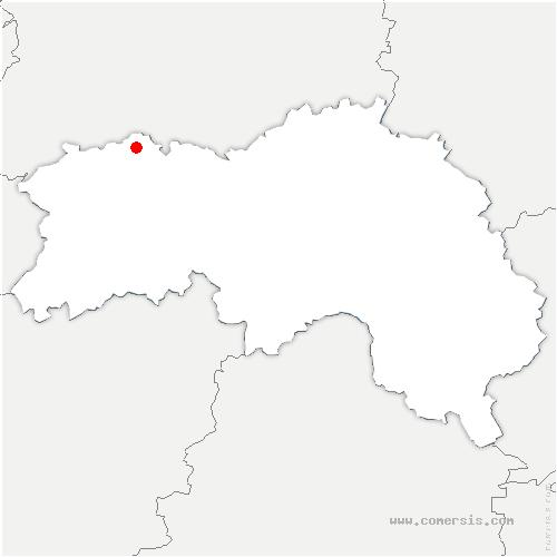 carte de localisation de Lande-Saint-Siméon
