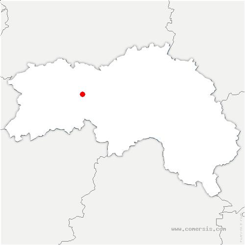 carte de localisation de Lande-de-Lougé
