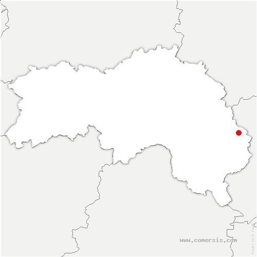 carte de localisation de Lande-sur-Eure