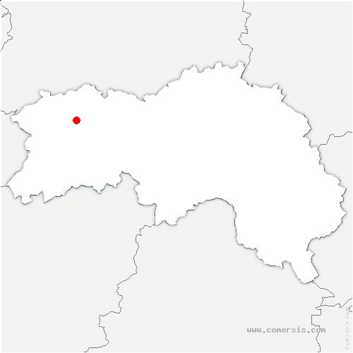 carte de localisation de Landigou