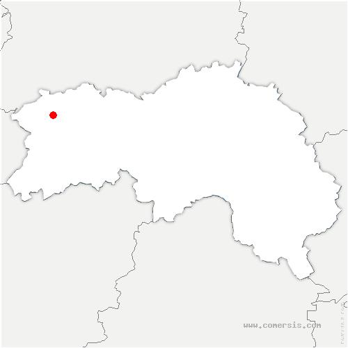 carte de localisation de Landisacq