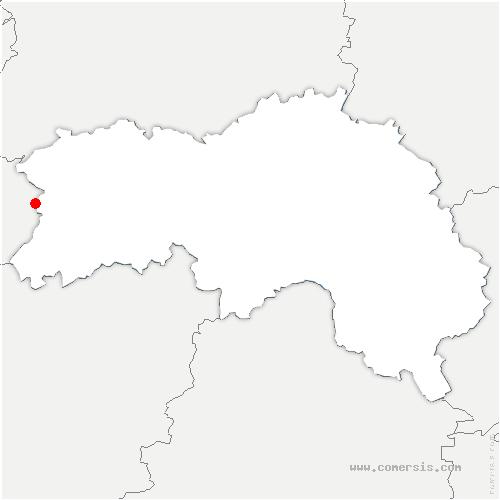 carte de localisation de Lonlay-l'Abbaye