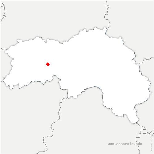 carte de localisation de Lonlay-le-Tesson