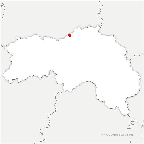 carte de localisation de Louvières-en-Auge