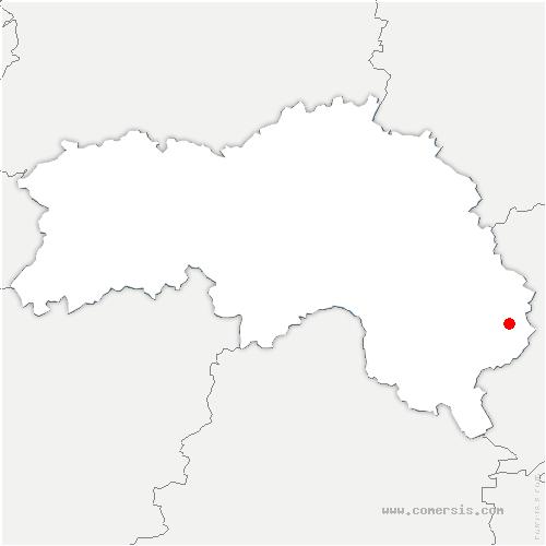 carte de localisation de Madeleine-Bouvet