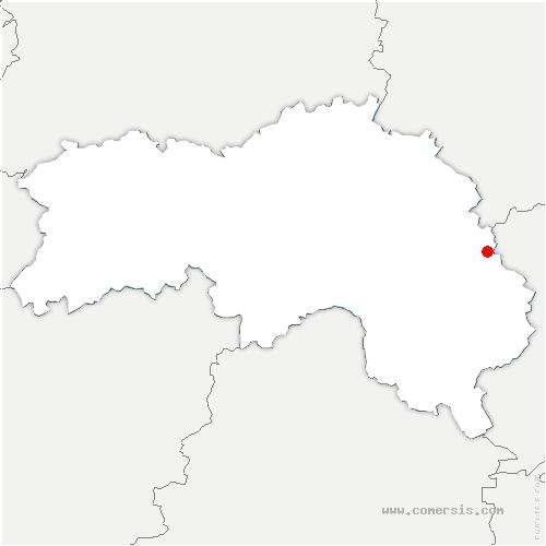 carte de localisation de Marchainville