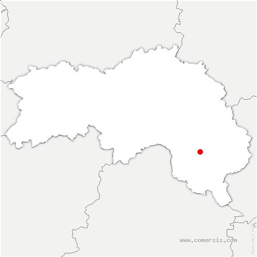 carte de localisation de Mauves-sur-Huisne