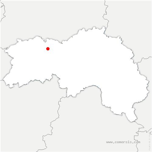 carte de localisation de Ménil-Gondouin