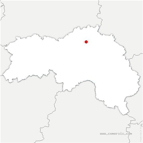 carte de localisation de Ménil-Hubert-en-Exmes