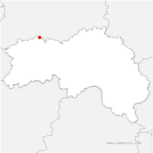 carte de localisation de Ménil-Hubert-sur-Orne