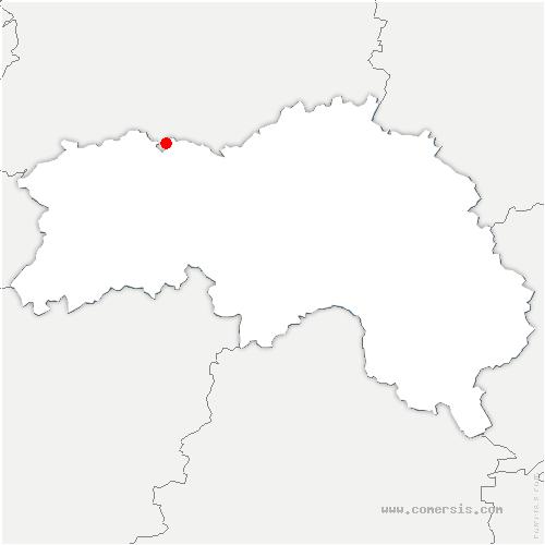carte de localisation de Ménil-Vin