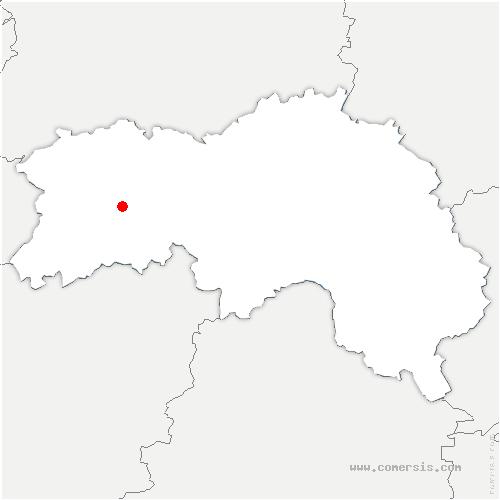 carte de localisation de Ménil-de-Briouze