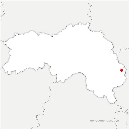 carte de localisation de Menus