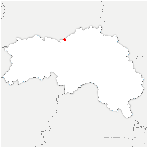 carte de localisation de Merri