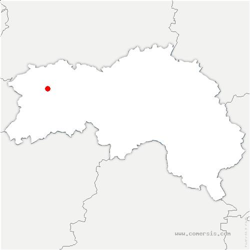 carte de localisation de Messei