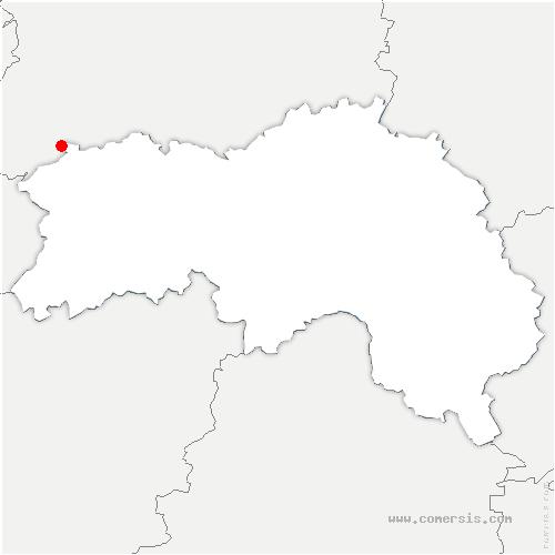 carte de localisation de Moncy