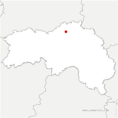 carte de localisation de Mont-Ormel