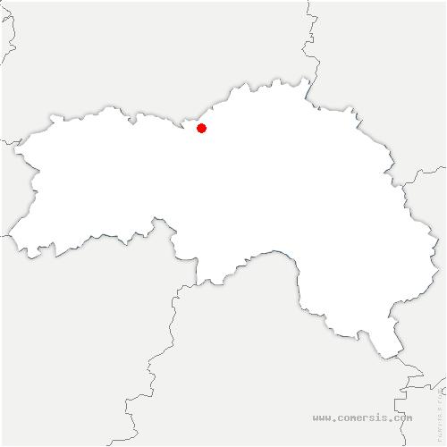 carte de localisation de Montabard
