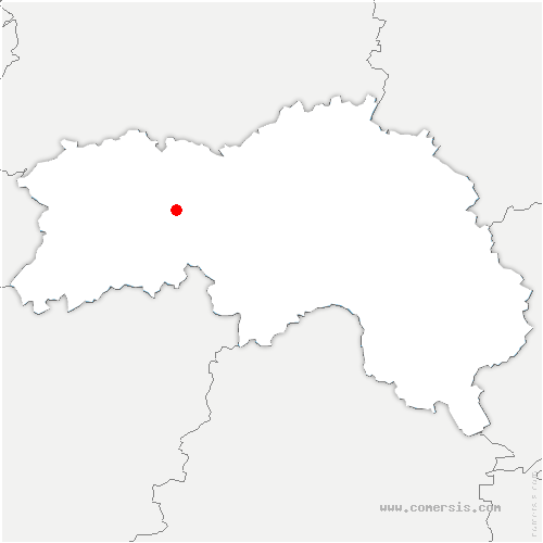 carte de localisation de Montreuil-au-Houlme