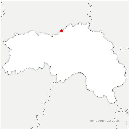 carte de localisation de Montreuil-la-Cambe