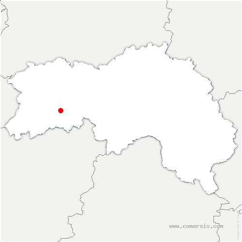 carte de localisation de Monts-d'Andaine