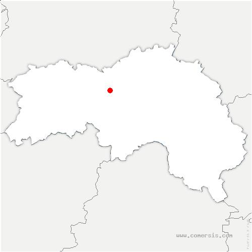 carte de localisation de Monts-sur-Orne