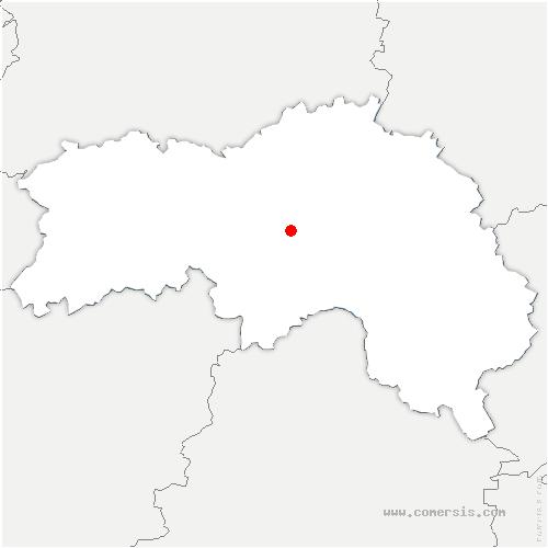 carte de localisation de Mortrée