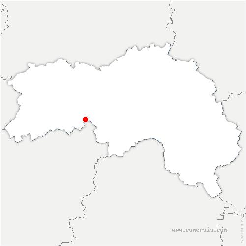 carte de localisation de Motte-Fouquet