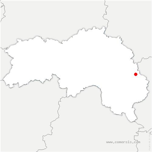 carte de localisation de Moulicent