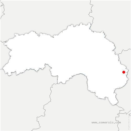 carte de localisation de Moutiers-au-Perche