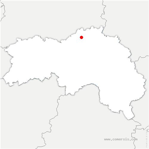 carte de localisation de Neauphe-sur-Dive