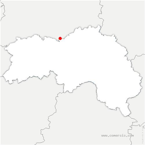 carte de localisation de Nécy