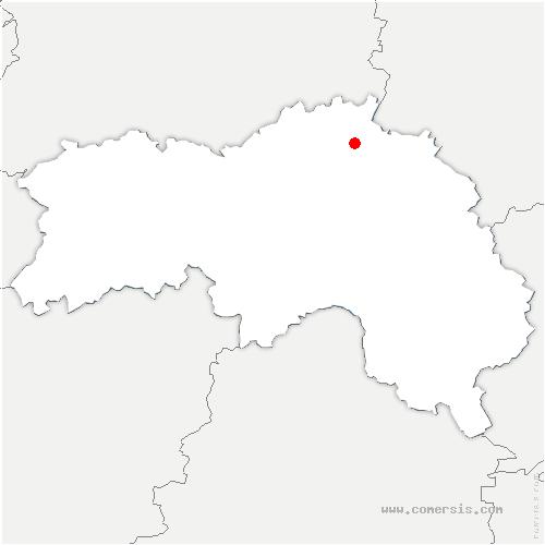 carte de localisation de Neuville-sur-Touques