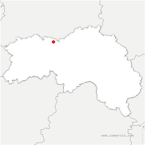 carte de localisation de Neuvy-au-Houlme