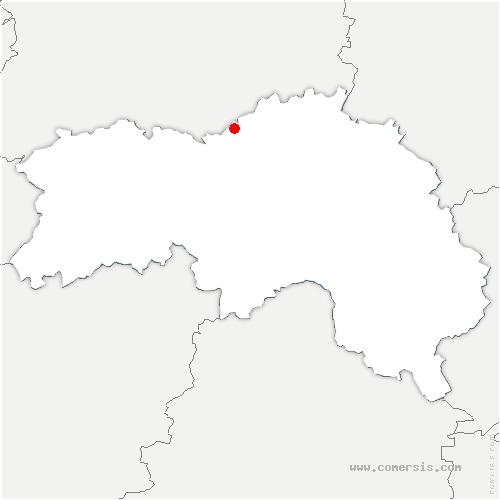 carte de localisation de Ommoy