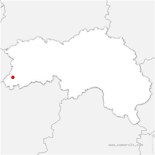 carte de localisation de Passais-Villages