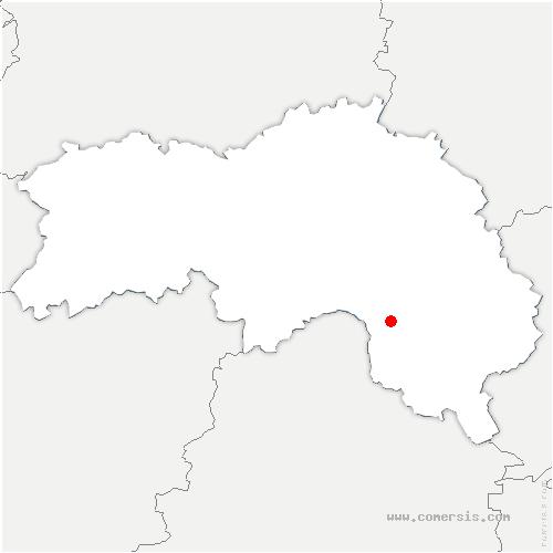 carte de localisation de Pervenchères
