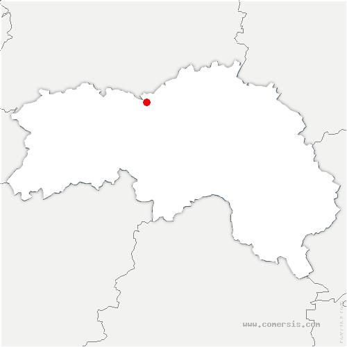 carte de localisation de Rônai