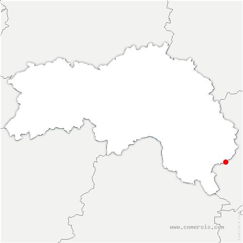 carte de localisation de Sablons-sur-Huisne