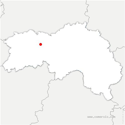 carte de localisation de Saint-André-de-Briouze