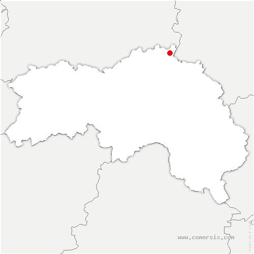 carte de localisation de Saint-Aubin-de-Bonneval