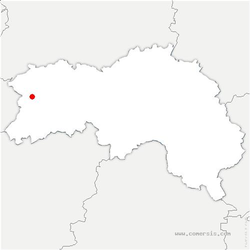 carte de localisation de Saint-Bômer-les-Forges