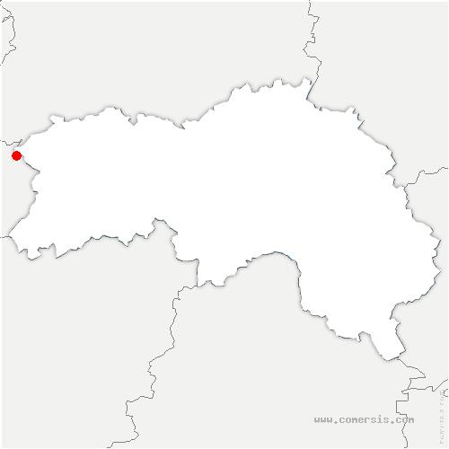 carte de localisation de Saint-Christophe-de-Chaulieu