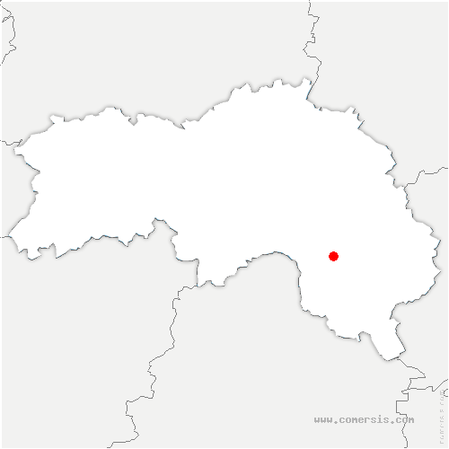 carte de localisation de Saint-Denis-sur-Huisne