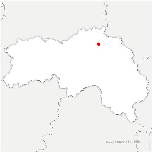 carte de localisation de Saint-Evroult-de-Montfort