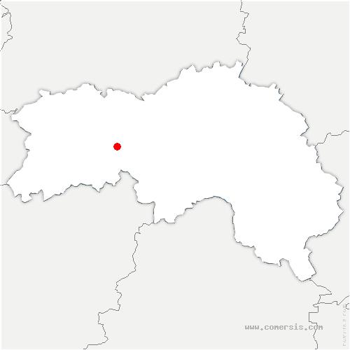 carte de localisation de Saint-Georges-d'Annebecq