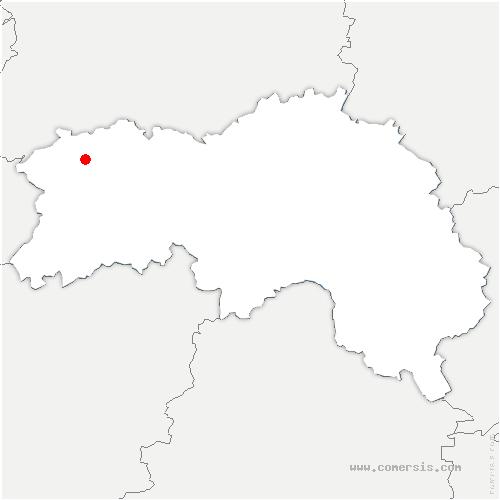 carte de localisation de Saint-Georges-des-Groseillers