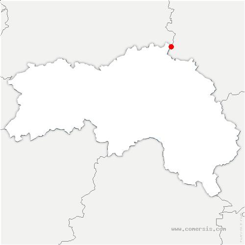 carte de localisation de Saint-Germain-d'Aunay